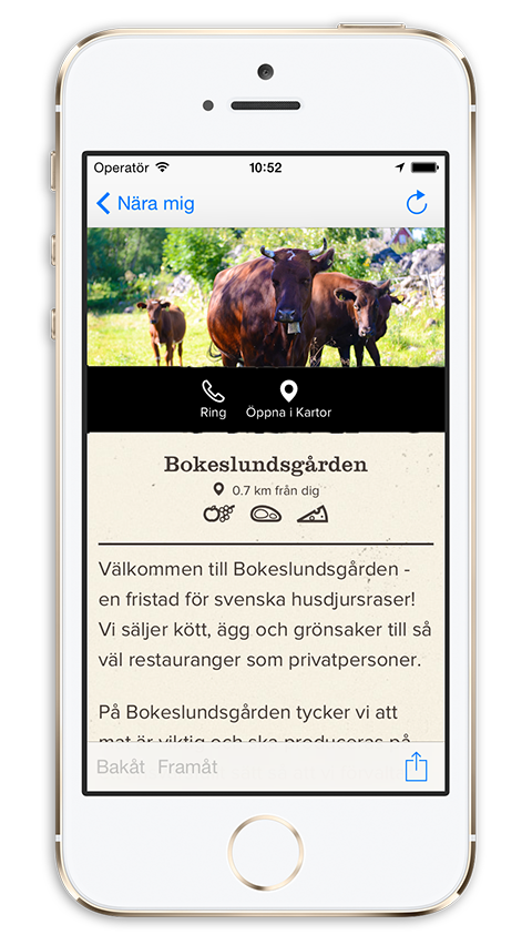 Gardsnara app iphone