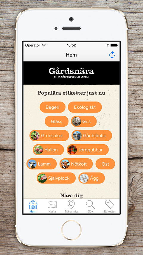 Gardsnara app iphone 1